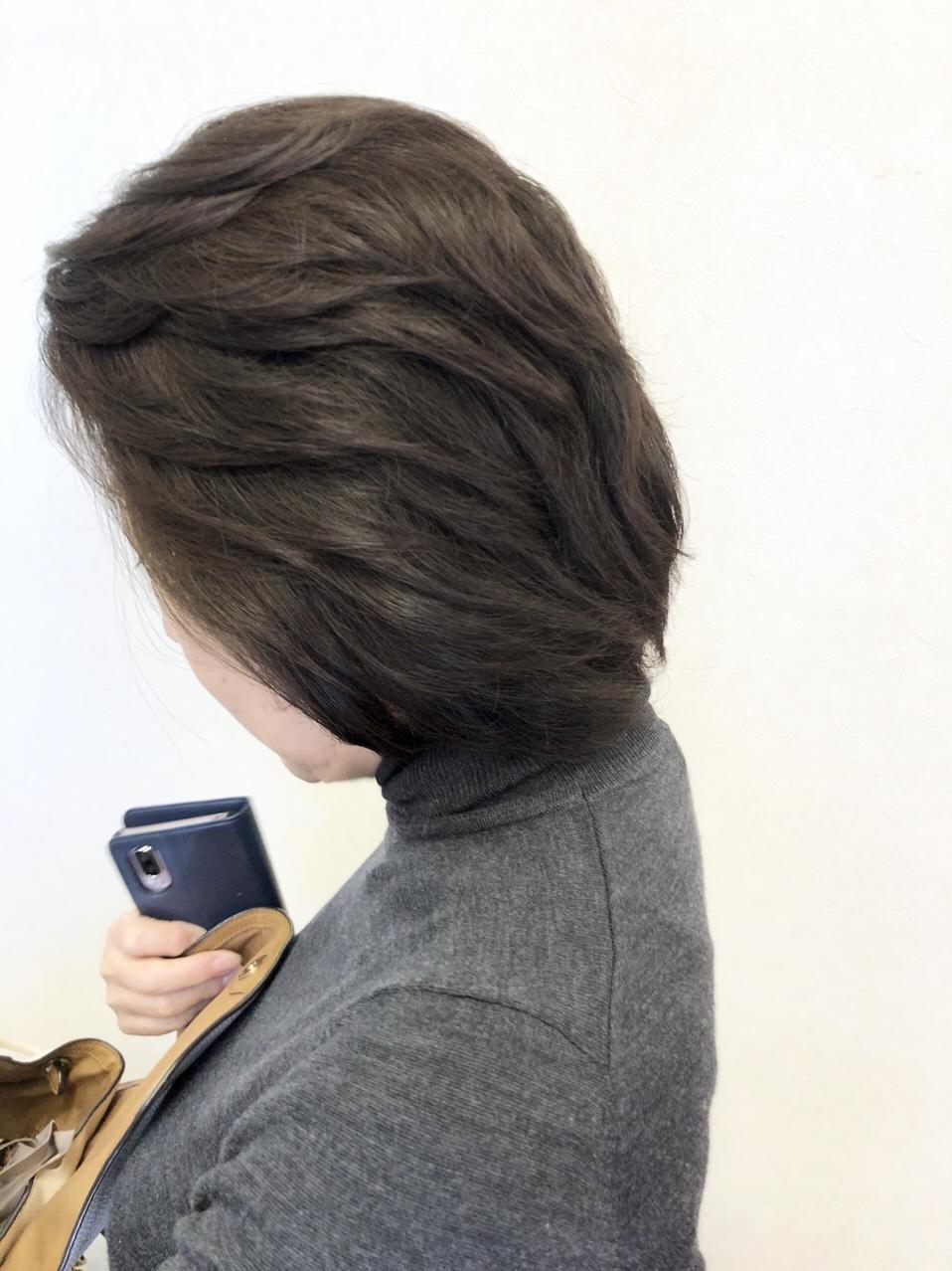 40代50代60代おすすめ☆ふんわりショートレイヤーサイドスタイル